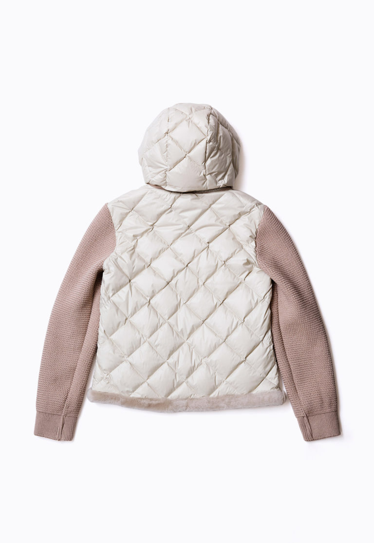 MOUTON DOWN BLOUSON WITH KNIT SLEEVE_back