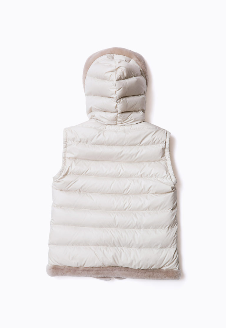 MOUTON DOWN DAFFLE VEST_back